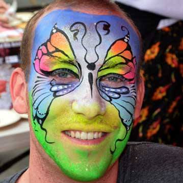 Calgary Stampede Face painting 3