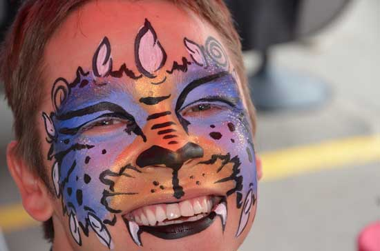 Calgary Stampede Face painting 4