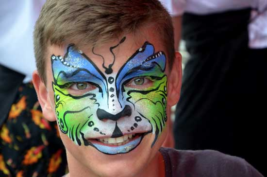 Calgary Stampede Face painting 5