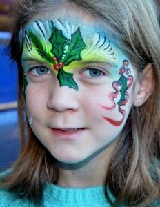 Calgary Christmas Face painting 2