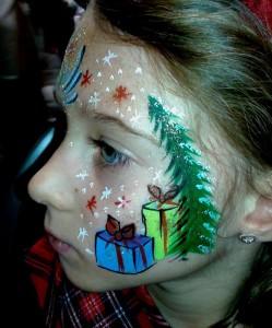 Calgary Christmas Face painting 7